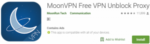 Moon VPN For Windows