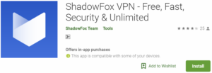 ShadowFox VPN For Windows