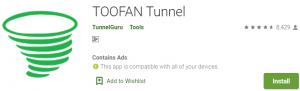 TOOFAN Tunnel For Windows